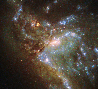 Two Galaxies Merging Paint by Diamonds