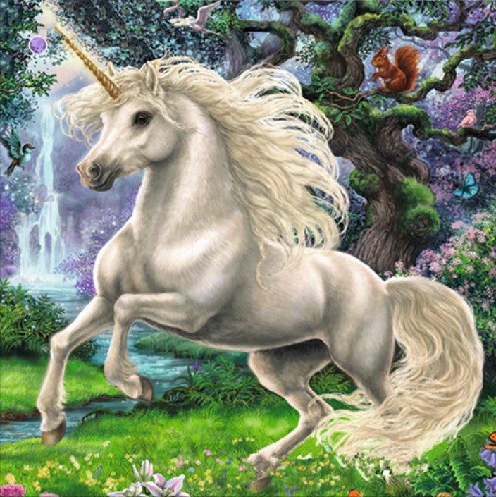 Unicorn in the Nature Garden Diamond Painting