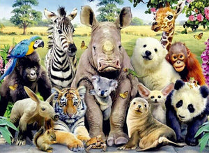 Wild Animals Diamond Painting Kit