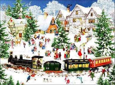 Christmas Winter train