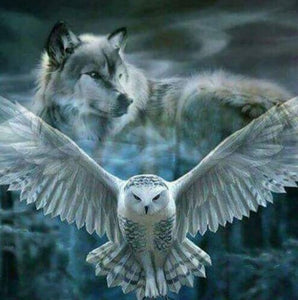 Owl & Wolf Diamond Painting