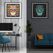 Load image into Gallery viewer, Glow in the dark Happy Skull Special Diamonds