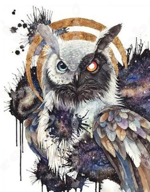 Yin Yang Owl Diamond Painting Kit