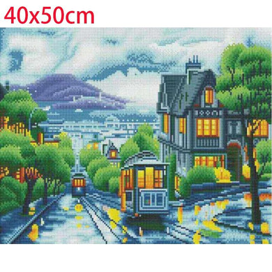 Cable Car LED Painting