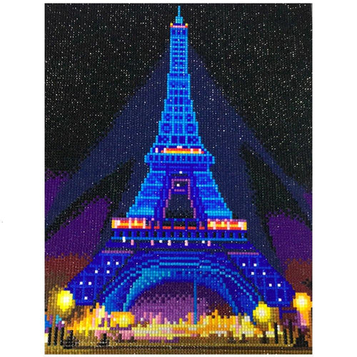 Eiffel Tower LED Diamond Painting