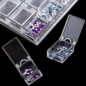 20 Slots Diamond Painting Drills Storage Box
