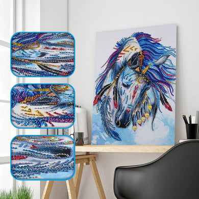A Humble Native Horse - Special Diamond Painting