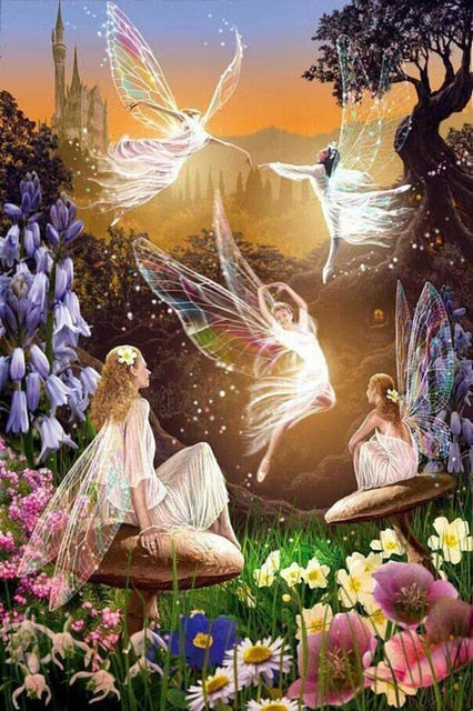 Flying Fairies DIY Diamond Painting