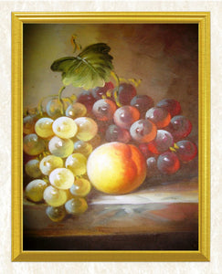 Red & Green Grapes DIY Painting