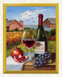 Pomegranate, Grapes & Wine Diamond Painting