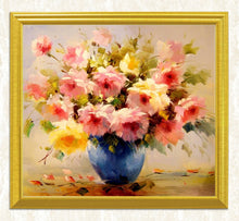 Load image into Gallery viewer, Pretty Flowers & Vase DIY Painting