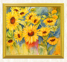 Load image into Gallery viewer, Sunflowers DIY Diamond Painting