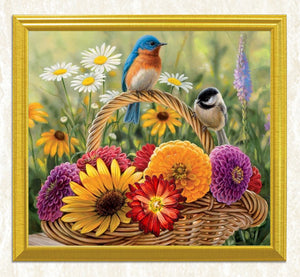 Sparrows & Flowers DIY Painting