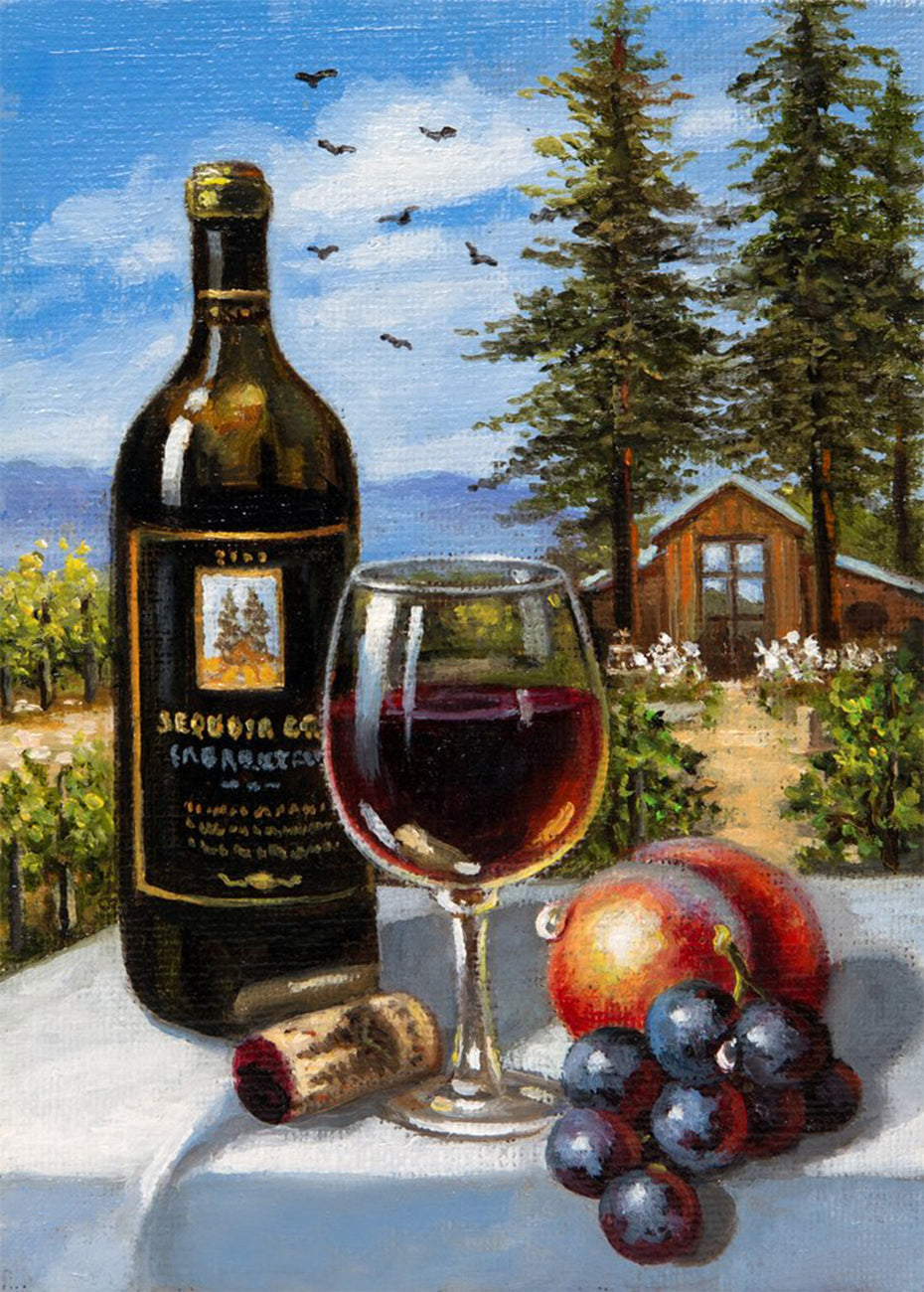 Wine Diamond Paining Kit