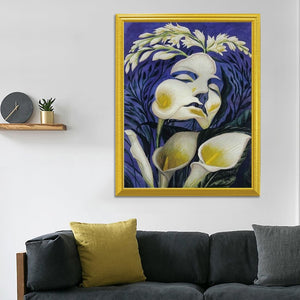 Lady & Flowers Art DIY Diamond Painting