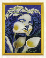Load image into Gallery viewer, Lady & Flowers Art DIY Diamond Painting