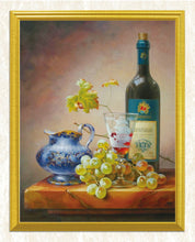 Load image into Gallery viewer, Wine & Grapes Still Life Diamond Painting