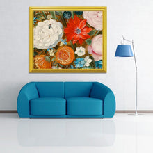 Load image into Gallery viewer, Zinnia Flowers DIY Painting