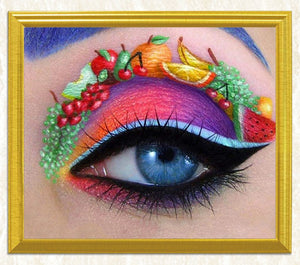 Fruit Art on Colorful Eye DIY Painting