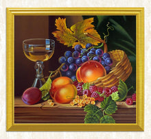 Load image into Gallery viewer, Wine Glass & Fruits Still Life Diamond Painting