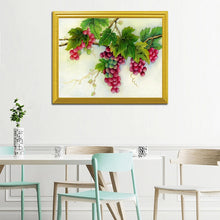 Load image into Gallery viewer, Grapes on Branches DIY Painting