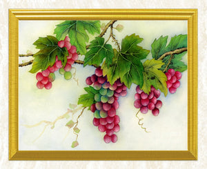 Grapes on Branches DIY Painting