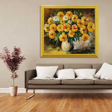 Load image into Gallery viewer, Yellow & White Flowers DIY Painting