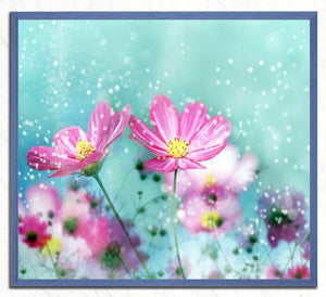 Pretty Pink Flowers DIY Painting