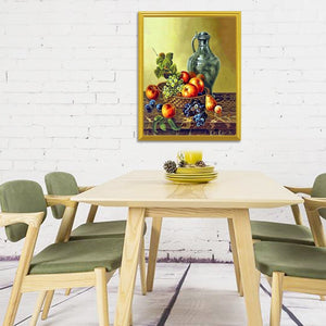 Bottle & Fruit Basket Diamond Painting