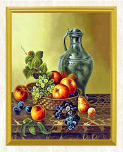 Load image into Gallery viewer, Bottle & Fruit Basket Diamond Painting