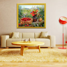 Load image into Gallery viewer, Basket Full of Strawberries & Flower Pott