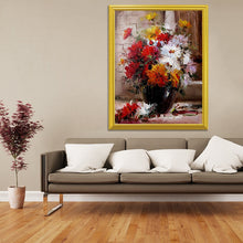 Load image into Gallery viewer, Red, Yellow & White Flowers in a Vase