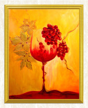 Load image into Gallery viewer, Wine Glass & Red Grapes DIY Diamond Painting