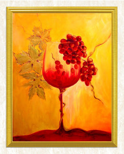 Wine Glass & Red Grapes DIY Diamond Painting