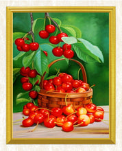 Load image into Gallery viewer, Cherry Basket DIY Diamond Painting