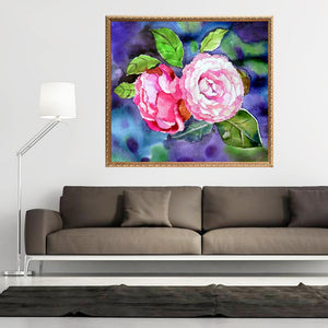 Camellia Flowers - DIY Diamond Painting