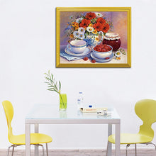 Load image into Gallery viewer, Berries, Flowers & Cup of Tea