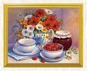 Berries, Flowers & Cup of Tea