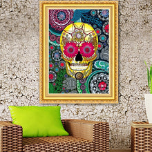 Load image into Gallery viewer, Sugar Skull Art DIY Diamond Painting
