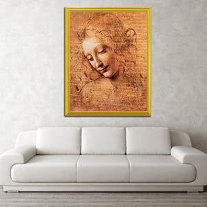 Girl Portrait  Diamond Painting - Leonardo Da Vinci