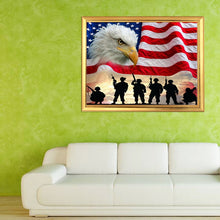 Load image into Gallery viewer, Soldiers, Eagle & American Flag