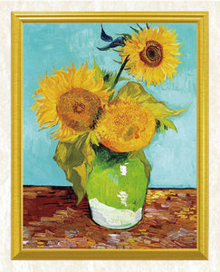 Vase with Three Sunflowers - Vincent van Gogh