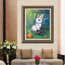 Load image into Gallery viewer, Black & White Rabbits in Forest