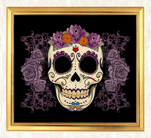 Sugar Skull & Flowers Diamond Painting