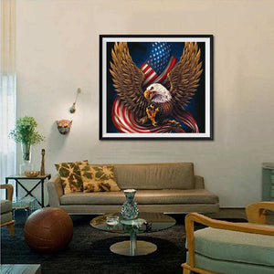 Eagle Holding Flag in Claws