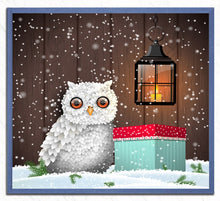 Load image into Gallery viewer, White Owl - Christmas Painting