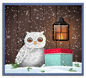 White Owl - Christmas Painting