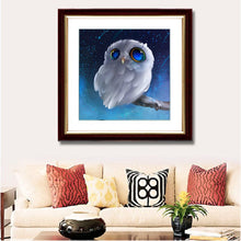 Load image into Gallery viewer, White Owl Diamond Painting