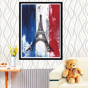 French Flag art DIY Diamond Painting