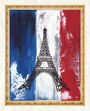 Load image into Gallery viewer, French Flag art DIY Diamond Painting